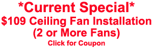 coupon for ceiling fan installation